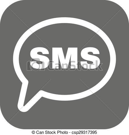 450x470 The Sms Icon. Text Message Symbol. Flat Vector Illustration. Button.
