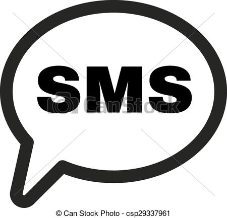 450x433 The Sms Icon. Text Message Symbol. Flat Vector Illustration.
