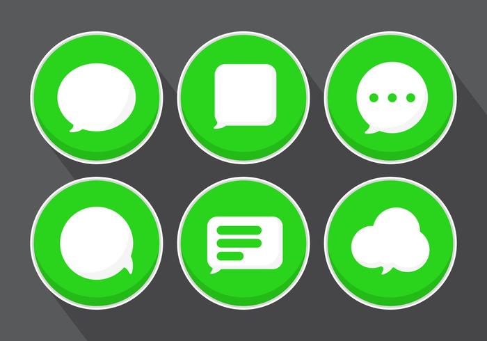 700x490 Vector Message Icons
