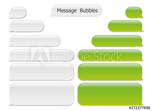 500x366 Vector Modern Sms Or Message Icons. Bubble Speech Set