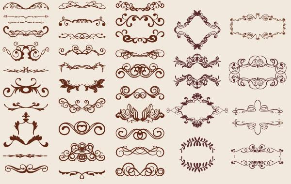 Text Ornaments Vector