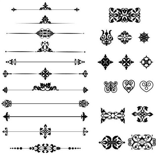 539x539 Black Calligraphic Ornaments Vector Free Download