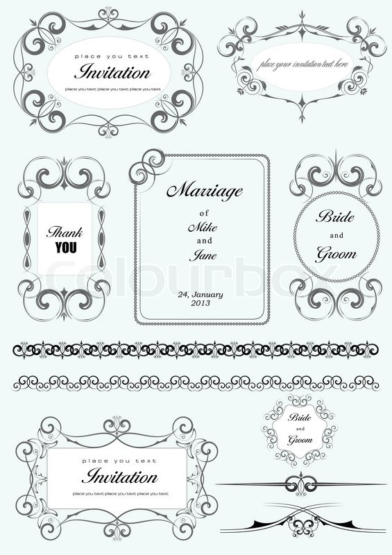565x800 Collectionof Ornate Vector Frames And Ornaments With Sample Text