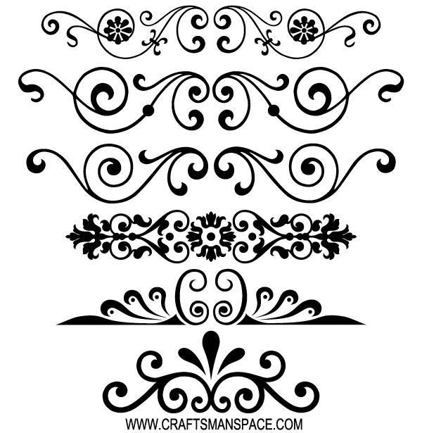 600x615 Free Decorative Ornaments Vector 123freevectors