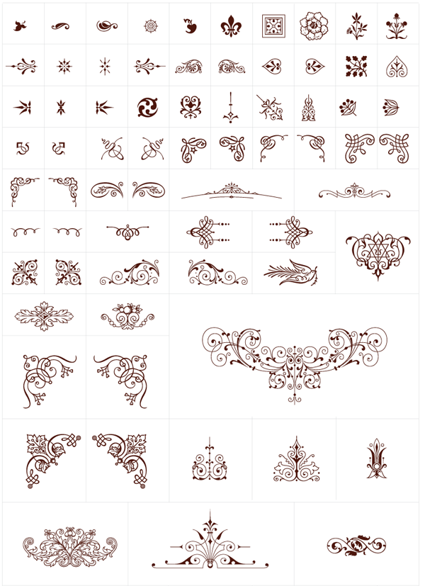 600x827 Free Vintage Graphics Flourish Vector Ornaments