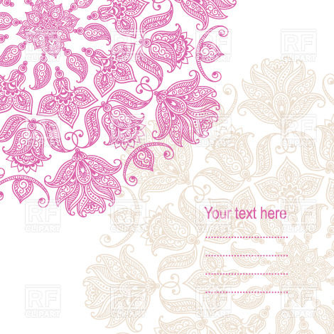 470x470 Graphic Floral Ornaments And Place For Text
