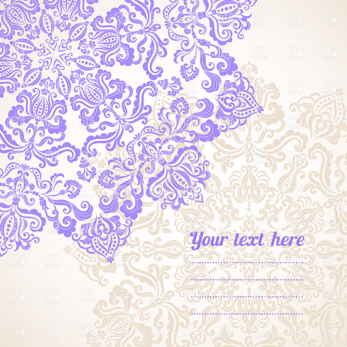 1200x1200 Graphic Floral Ornaments And Place For Text Vector Image Vector