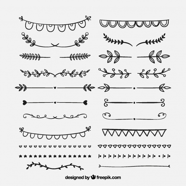 626x626 Set Of Vintage Ornaments For Hand Drawn Text Vector Free Download
