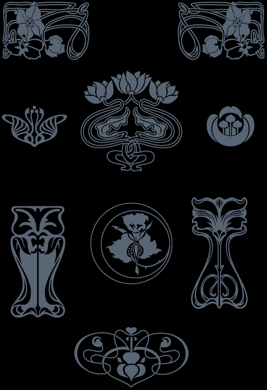 1920x2807 Art Nouveau Ornaments