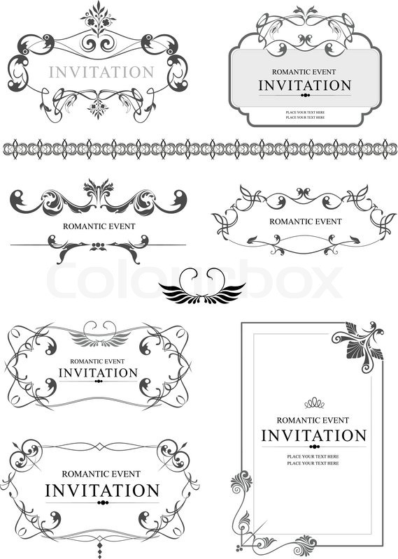 569x800 Big Collection Of Ornate Vector Frames And Ornaments With Sample