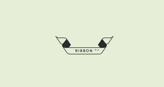 640x340 Outline Flat Ribbon Vector Set