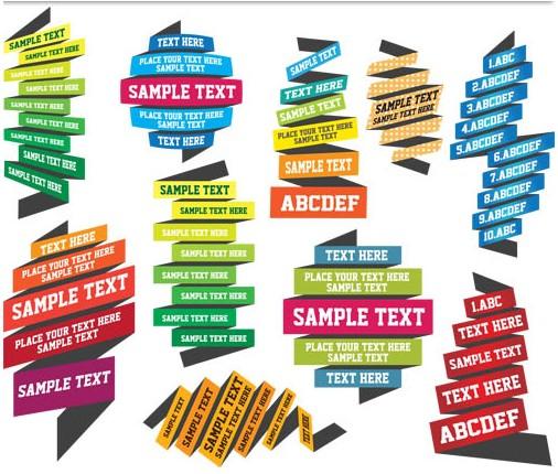 506x430 Ribbon Text Area Vector Ai Format Free Vector Download