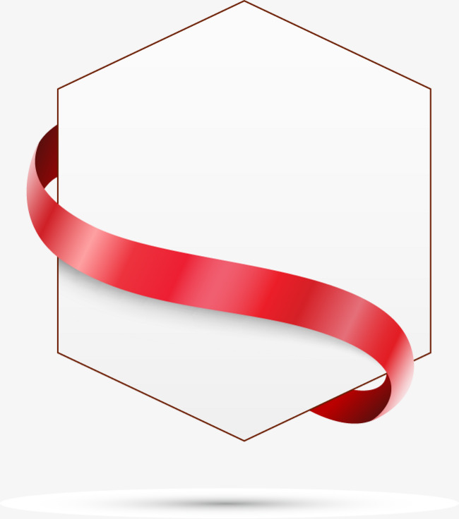 650x736 Ribbon Text Box Hexagon, Ribbon Vector, Text Vector, Box Vector