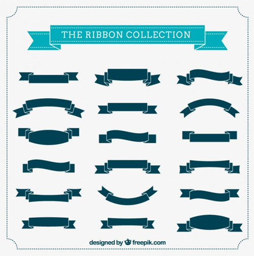 500x502 29 Modern Ribbon Vector Freebies To Download