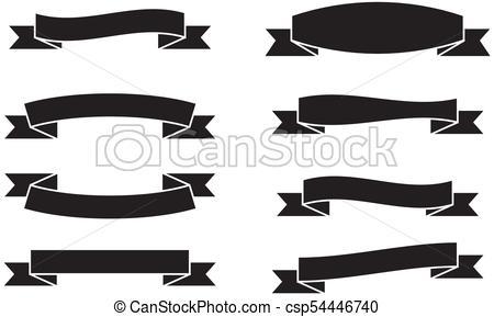 450x289 Vector Set Of Banners Ribbons, Vintage Ribbon. Vector Set Of