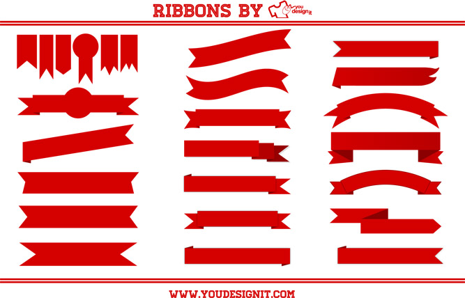 667x428 33 Cool T Shirt Designs With Ribbons With Vector Freebie