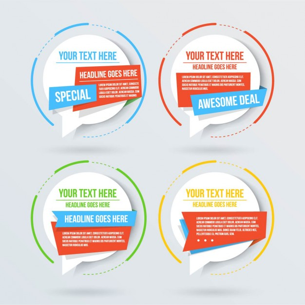 626x626 Amazing Templates For Text Vector Free Download