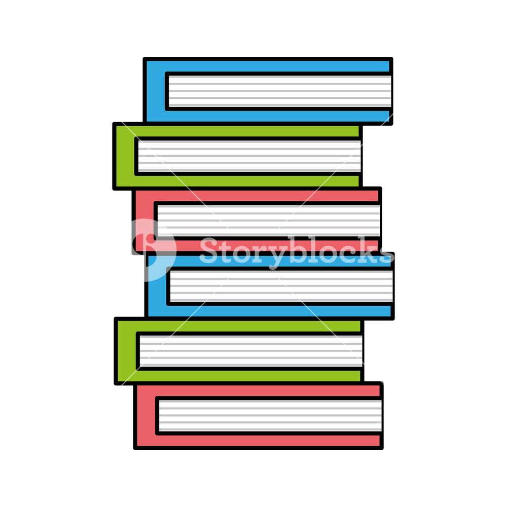 1000x1000 Colorful Education Books Object To Kowledge Textbook Vector