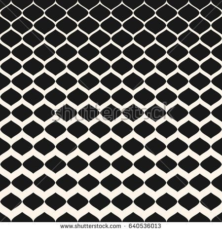 450x470 Halftone Seamless Pattern, Vector Monochrome Texture With Gradient