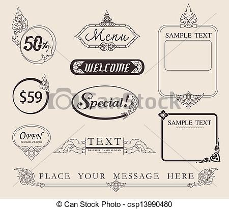450x411 Menu Line Thai. Vector Arrow For Business Concepts With Icons