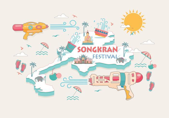 700x490 Songkran Festival Thailand Vector