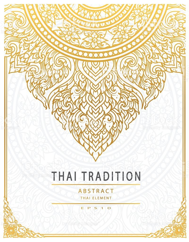 801x1024 Thai Art Element Traditional Gold Cover In 2018 Designs