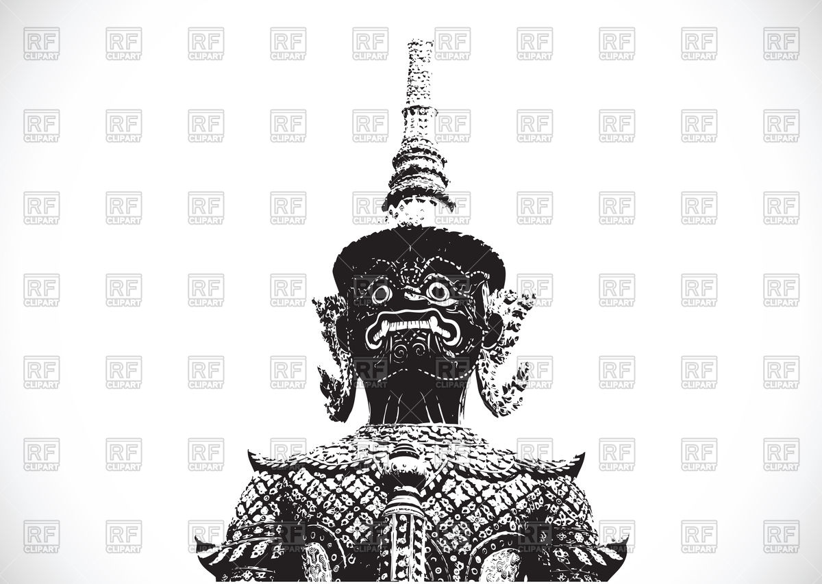 1200x853 Thai Giant Art Vector Image Vector Artwork Of Travel Tumdee