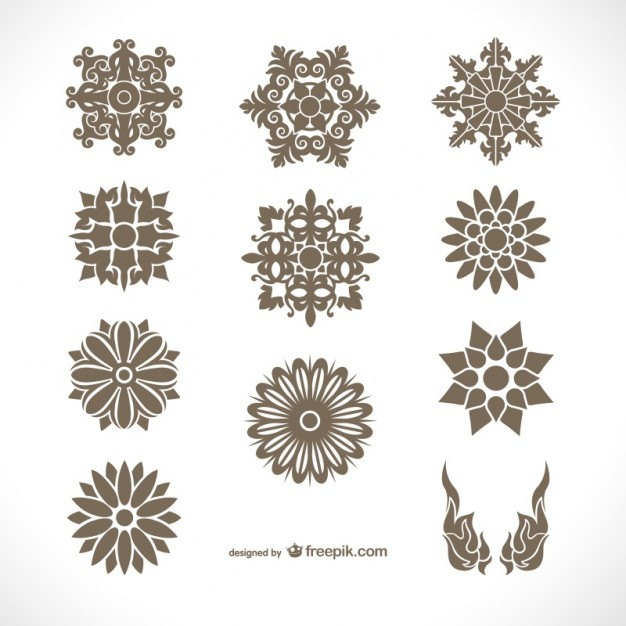 626x626 Thai Ornaments Pack Vector Free Download