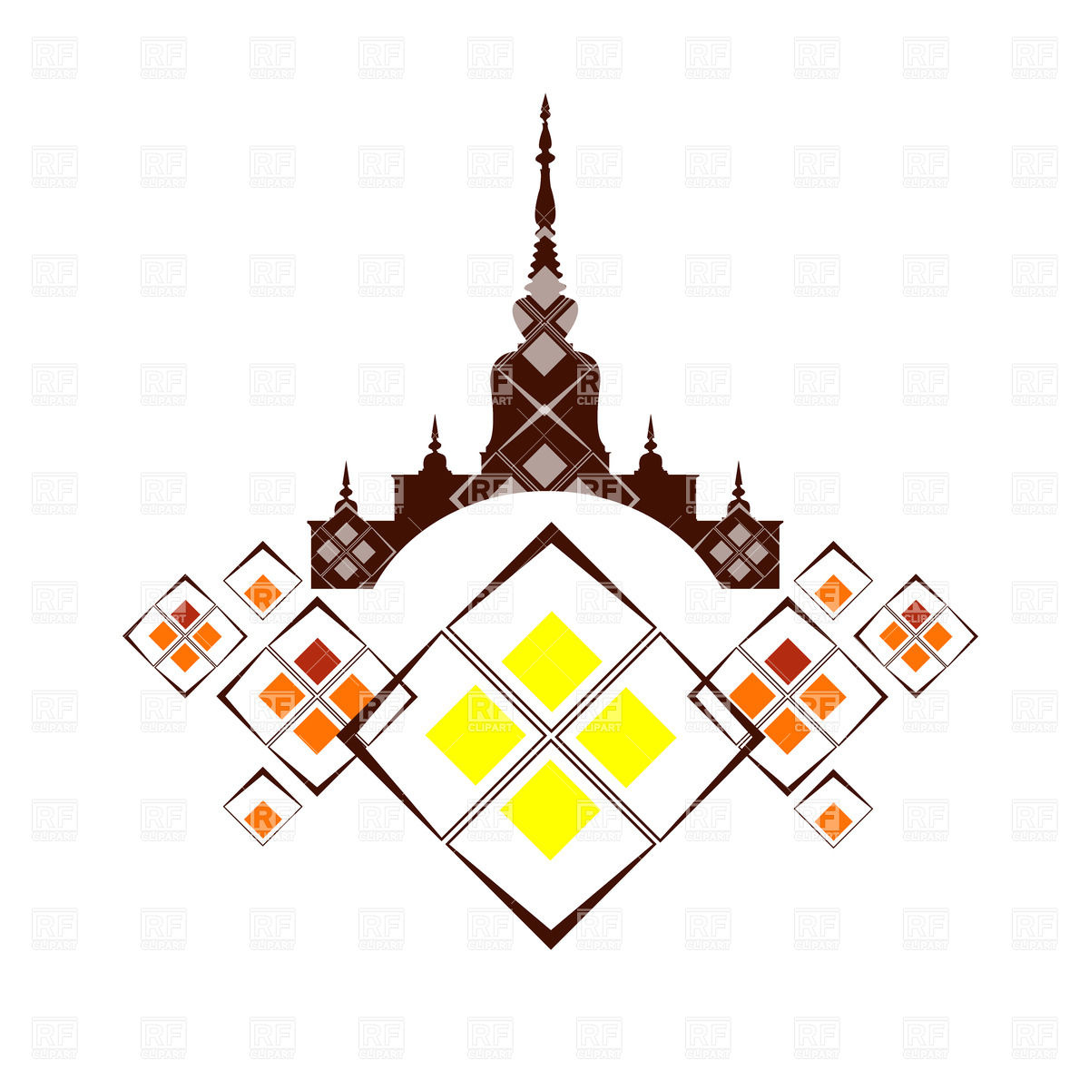 1200x1200 The Relics Thai Vector Image Vector Artwork Of Backgrounds