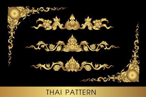 500x330 Golden Thai Ornaments Art Vector Material 13 Free Download