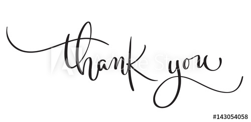 500x244 Hand Drawn Vintage Vector Text Thank You On White Background