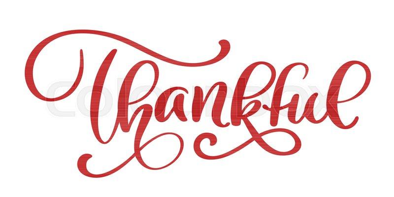 800x400 Thankful Handwritten Inscription. Hand Drawn Thank You Lettering