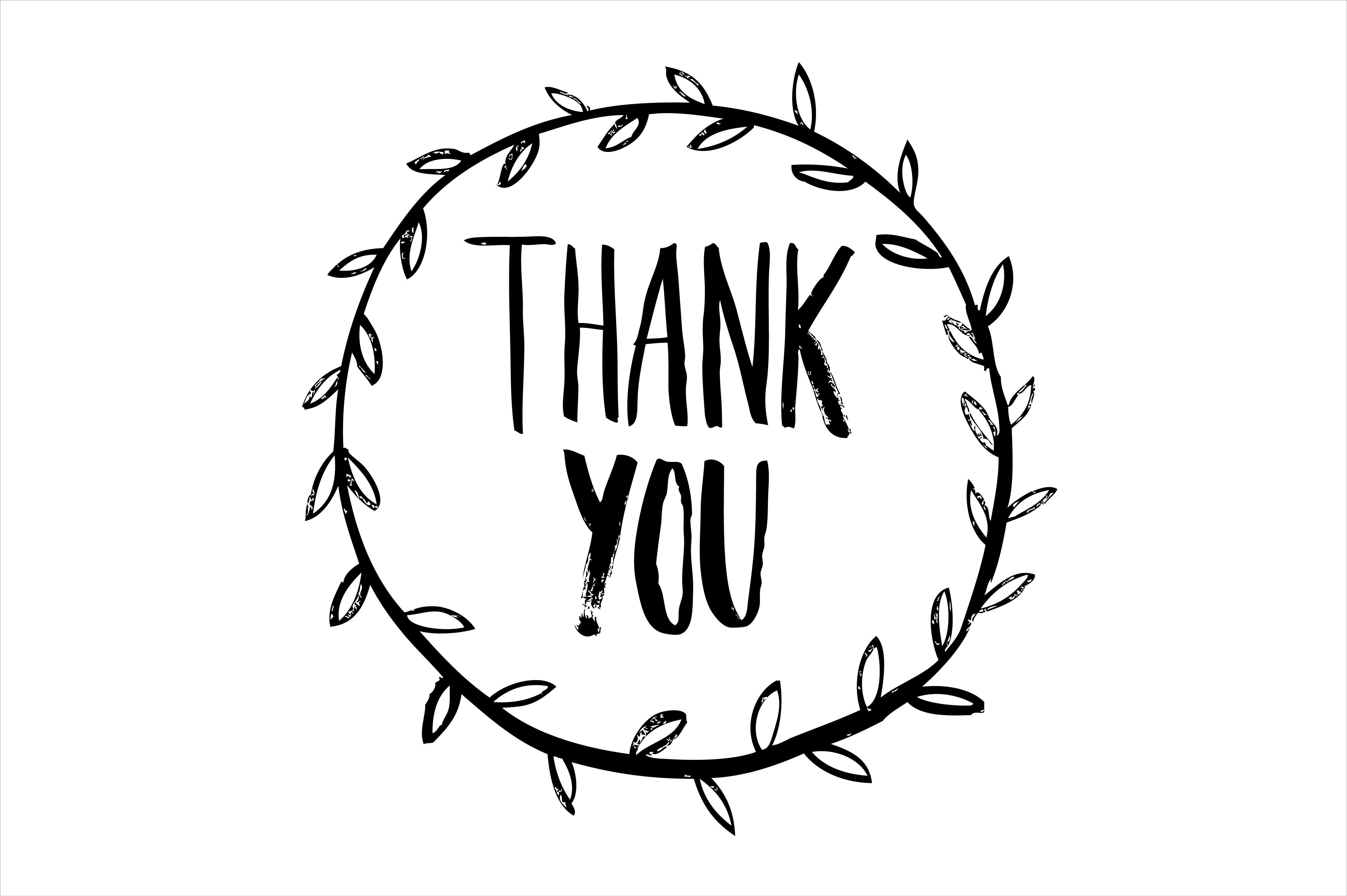 4594x3057 Thank You Calligraphy Vector By Lyeyee On Creative Market Diy