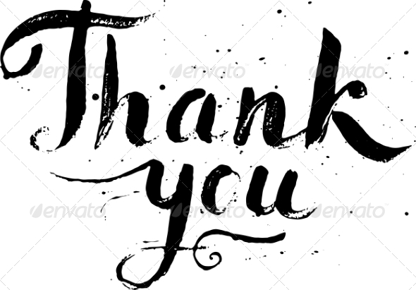 590x411 Thank You Calligraphy Vector By Art Of Sun Graphicriver