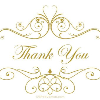 340x340 Thank You Card Template Vectors Download Free Vector Art