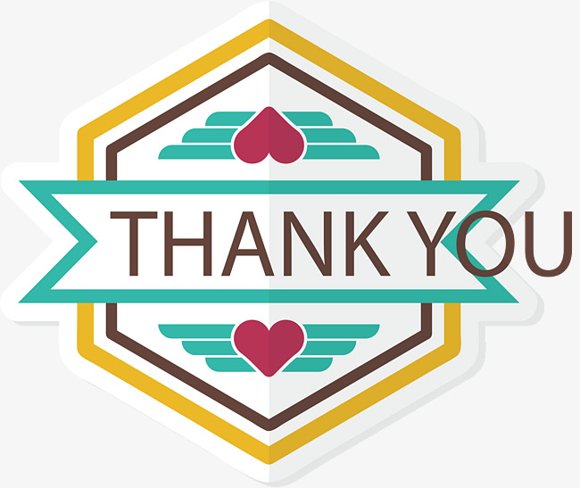 650x547 Hexagonal Thank You Card, Card Vector, Vector Png, Thank You Card