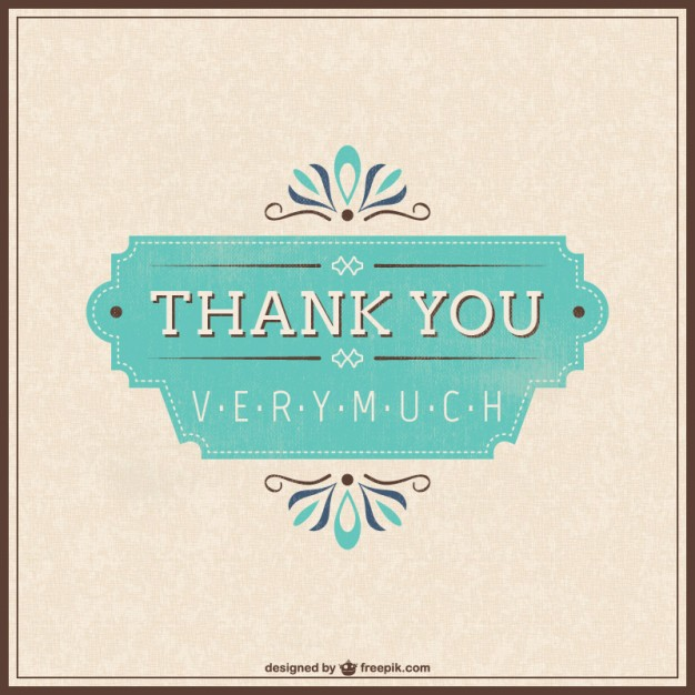 626x626 Retro Thank You Card Vector Free Download