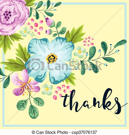450x470 Spring Color Thank You Card.