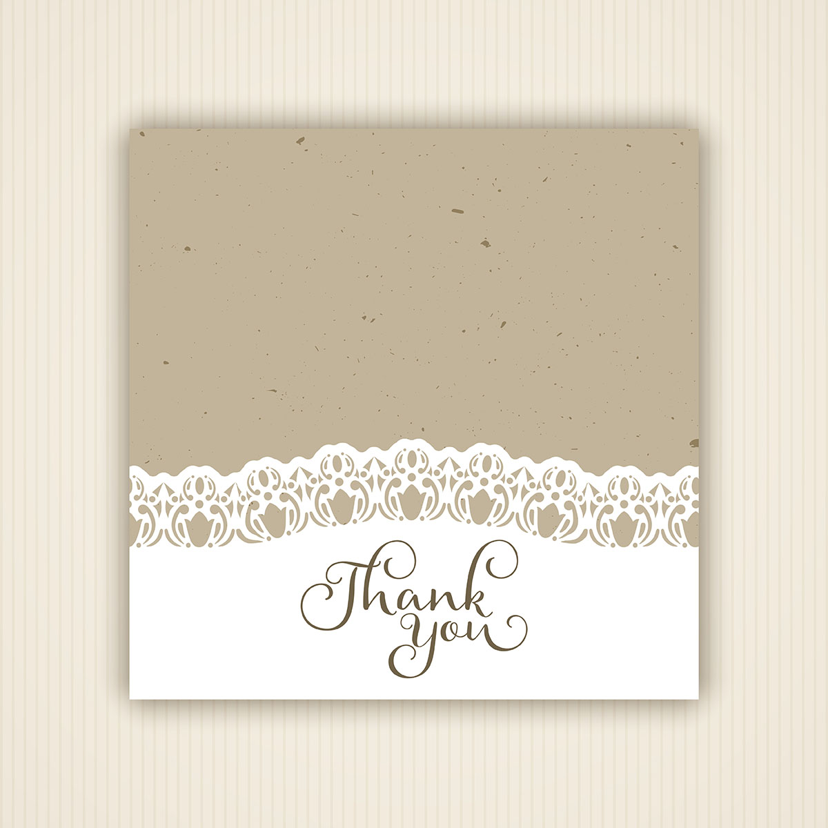 1200x1200 Thank You Card Free Vector Art