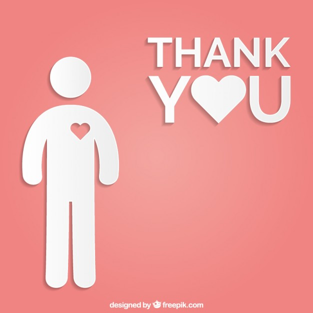 626x626 Thank You Card Vector Free Download