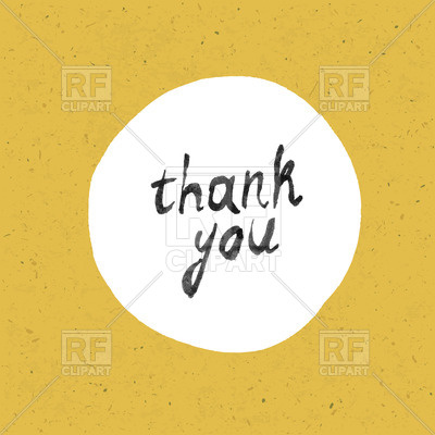 400x400 Thank You Card On Grunge Yellow Background Vector Image Vector