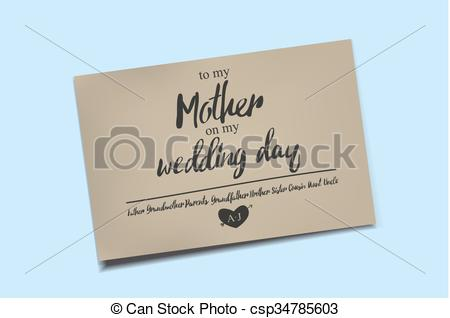 450x318 Thank You Card On My Wedding Day. To My Mother On My Wedding Day