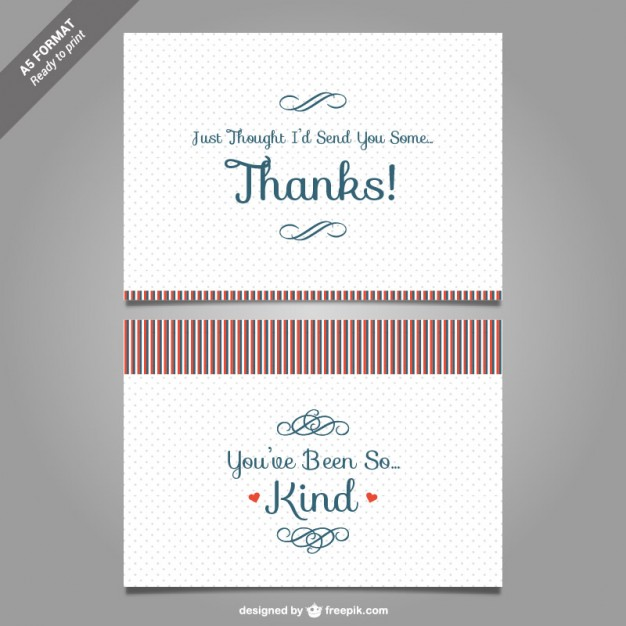 626x626 Thank You Card Template Vector Vector Free Download