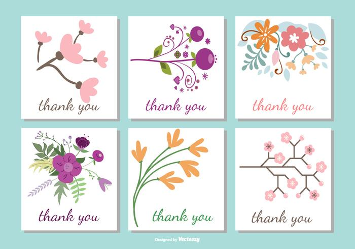 700x490 Cute Floral Thank You Card Collection