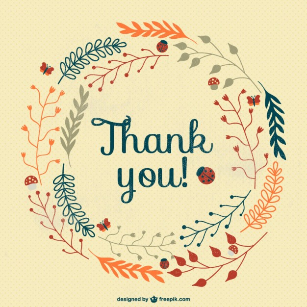 626x626 Vintage Thank You Card Vector Free Download