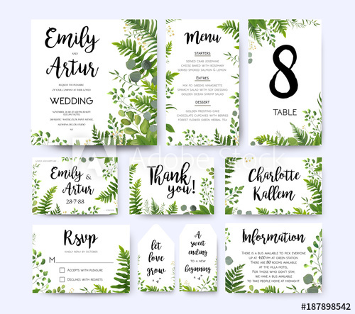 500x443 Wedding Invite, Invitation Menu Rsvp Thank You Card Vector Floral