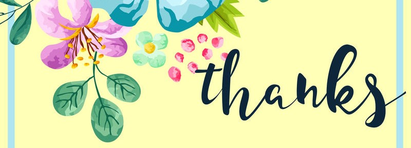 800x288 Spring Flower Thank You Card Vector 71697276