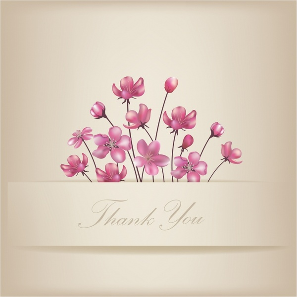 600x600 Floral Thank You Card Free Vector In Adobe Illustrator Ai ( .ai