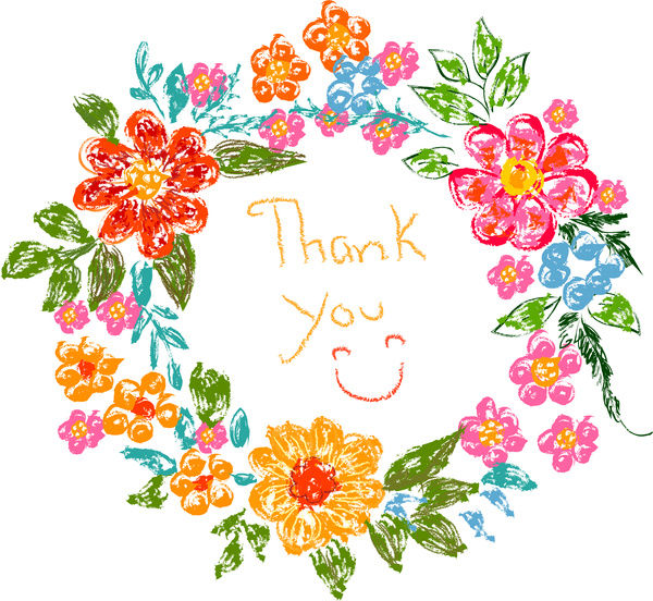 600x552 Flower Frame Thank You Card Free Vector In Adobe Illustrator Ai