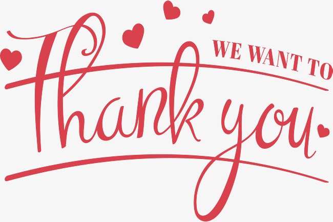 650x433 Red English Thank You, Vector Png, Thank You, Thank You Png And